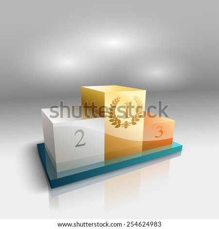 winners podium - stock vector
