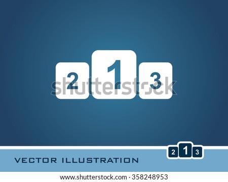 Winners Podium Icon. Eps-10. - stock vector