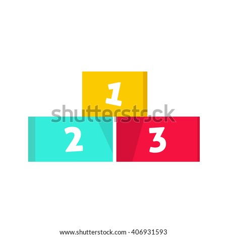 Winners podium vector illustration isolated on white background - stock vector