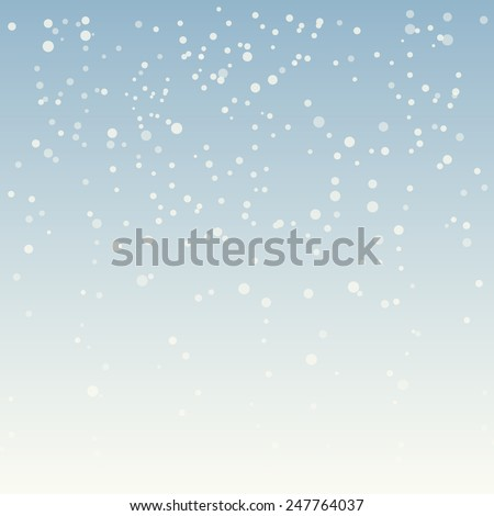 winter background falling snow - stock vector