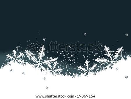 Winter background, snowflakes - stock vector