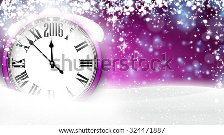 Winter background with snow and place for text. Christmas purple defocused illustration. Eps10 vector.  - stock vector