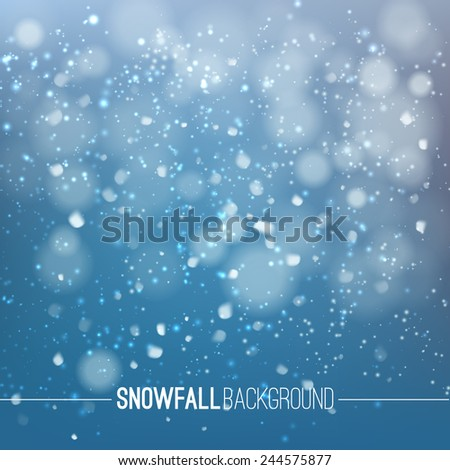 Winter background with snowflakes, eps 10 - stock vector