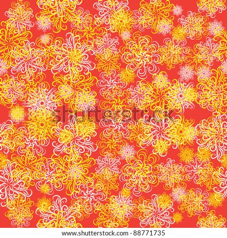 winter background with snowflakes. illustration - stock vector