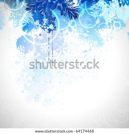 winter composition - stock vector