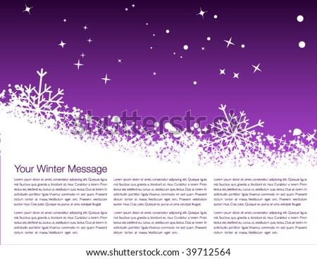 Winter cover design - stock vector
