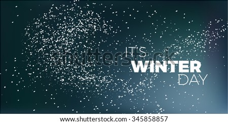 winter day blue vector card. modern Christmas dark background - stock vector