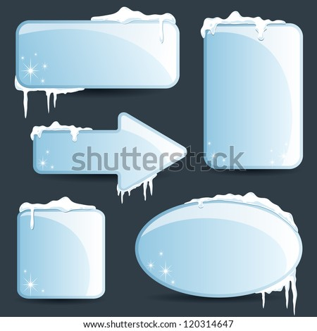 Winter design Christmas sale stickers and tags for text and discounts - stock vector