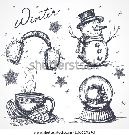 Winter design elements - stock vector
