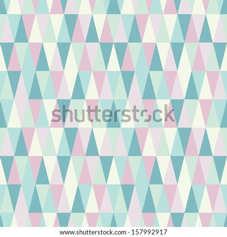 winter geometry triangle holiday pattern - stock vector