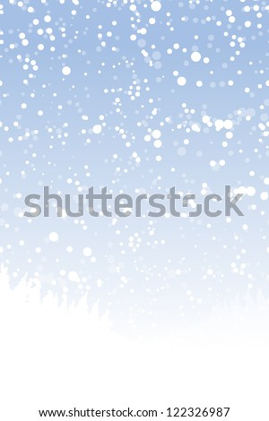 Winter landscape for your design - stock vector