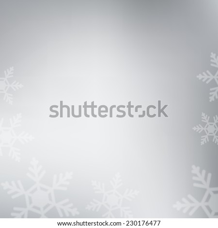 Winter pastel background with blurred snowflakes. Holiday trendy design. Frosted backdrop for Christmas greeting cards, banners etc - stock vector