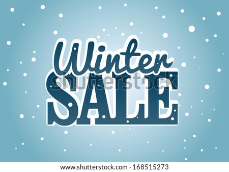 Winter Sale - stock vector