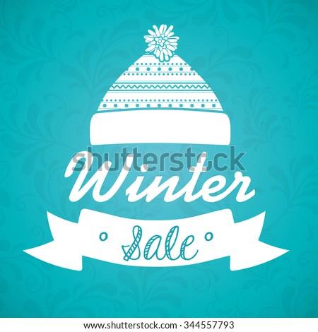 winter sale design, vector illustration eps10 graphic  - stock vector