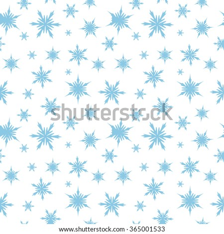 Winter seamless background with snowflakes. Vector illustration - stock vector