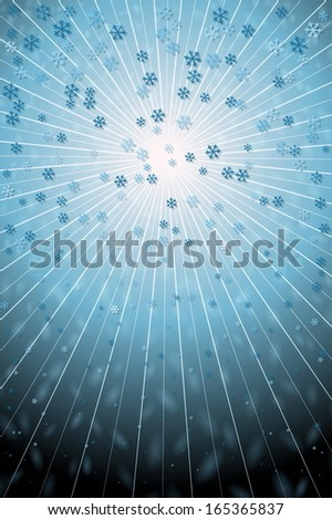 Winter Snowfall - stock vector