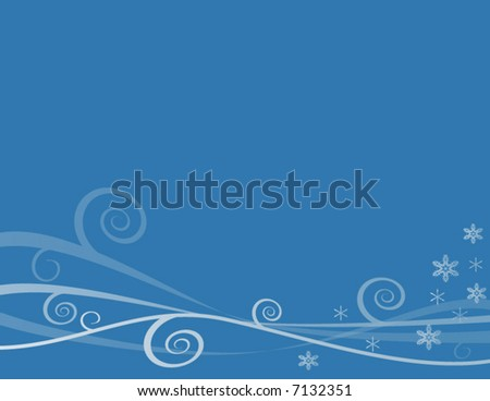 Winter Snowflake Background (Vector) - stock vector