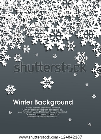Winter snowflakes background eps10 - stock vector