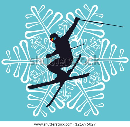 winter sports - stock vector
