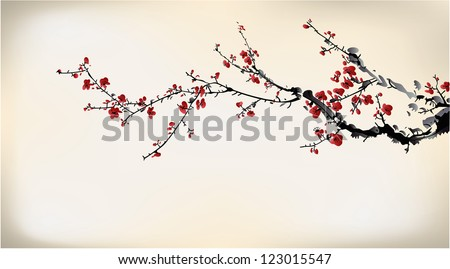 winter sweet - stock vector