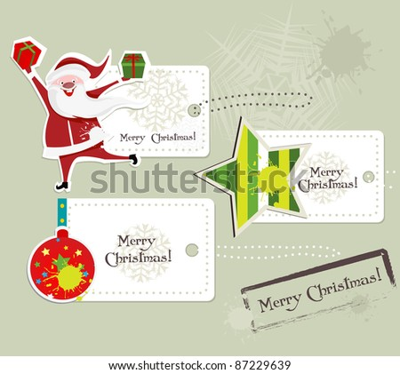 Winter tags. - stock vector