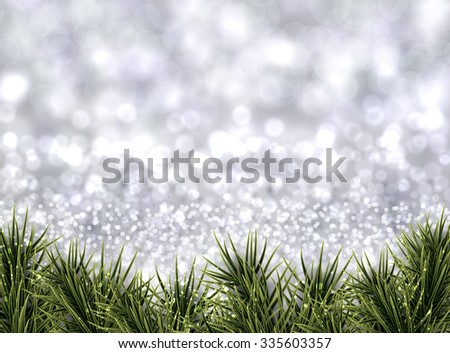 Winter xmas background with fir branches. Vector Illustration. - stock vector