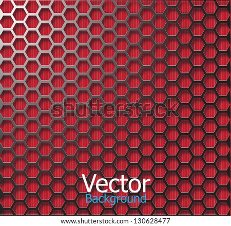 Wire frame mesh black red background. - stock vector