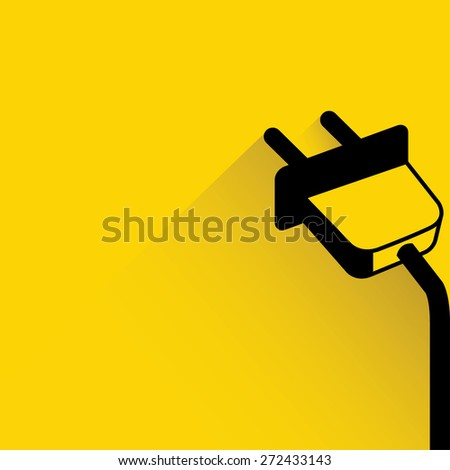 wire plug, electricity icon - stock vector