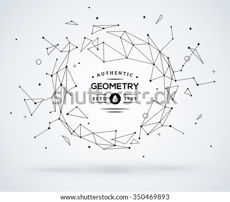 Wireframe mesh broken polygonal element. Sphere with connected lines and dots. Connection Structure. Geometric Modern Technology Concept. Digital Data Visualization. Social Network Graphic Concept - stock vector