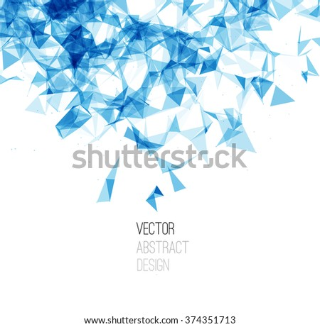 Wireframe mesh polygonal background. Abstract form with triangles and dots. Low poly background. Vector Illustration EPS10. - stock vector
