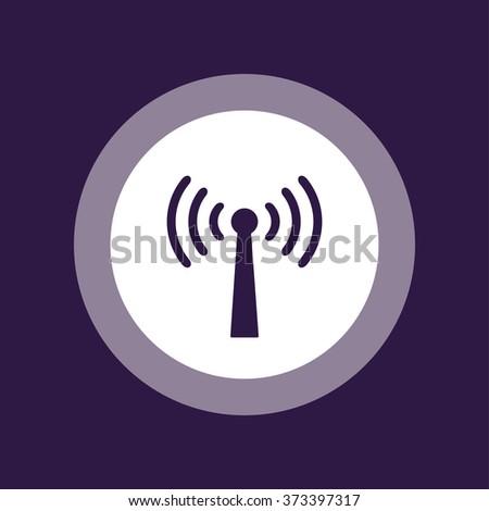 Wireless Antenna Icon . Vector illustration - stock vector
