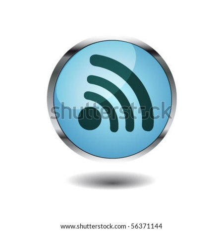 wireless button - stock vector