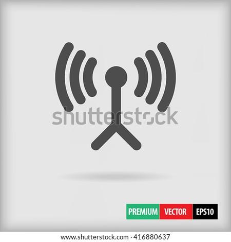 Wireless icon, Wireless radio, Wireless data transfer, Wireless vector, Wireless image, Wireless graphic, Wireless art, Wireless draw, Wireless element, Wireless network, Wireless connection, symbol - stock vector