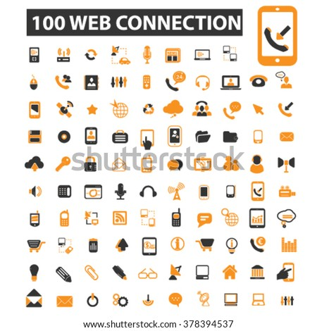 wireless icons, wireless logo, connection icons vector, connection flat illustration concept, connection infographics elements isolated on white background, connection logo, connection symbols set - stock vector