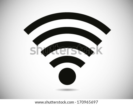Wireless Internet Connection Icon - stock vector