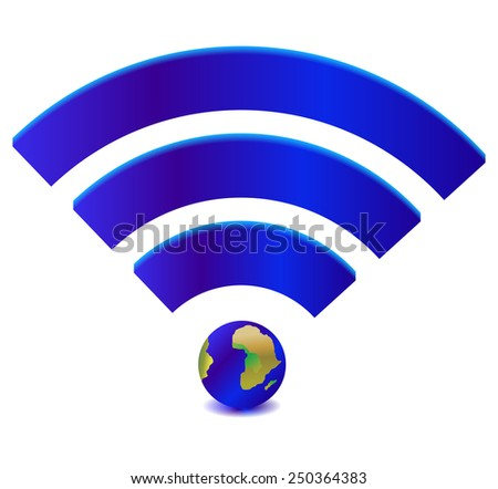 Wireless Network Symbol - stock vector