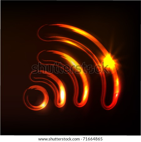 wireless sign, vector - stock vector