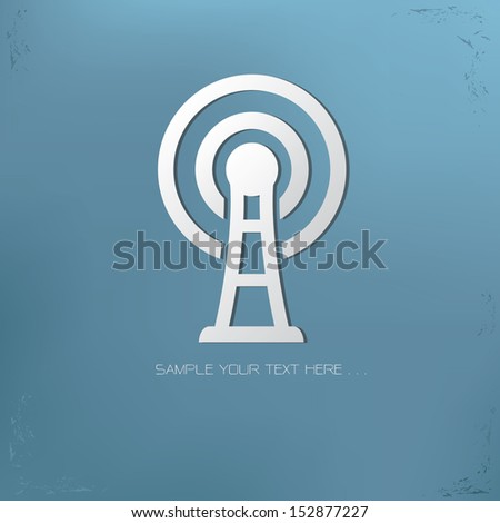 Wireless symbol,vector - stock vector