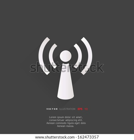 Wireless web icon - stock vector