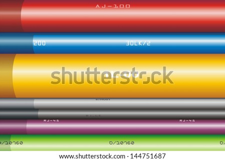 Wires background - stock vector