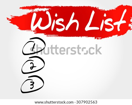 Wish List blank list, business concept - stock vector
