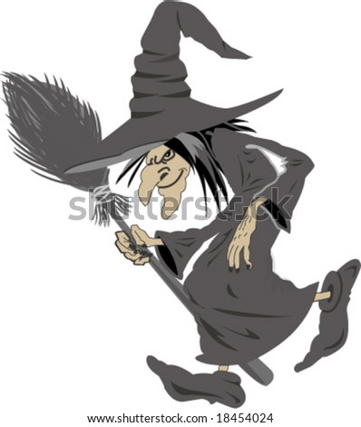 witch - stock vector