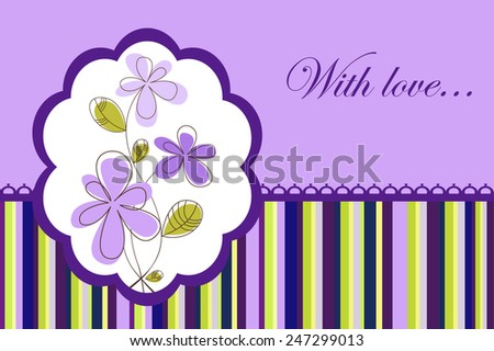 With love greeting card - stock vector