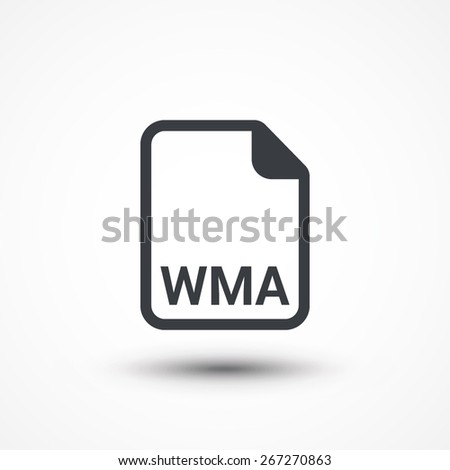 WMA audio file extension icon. - stock vector