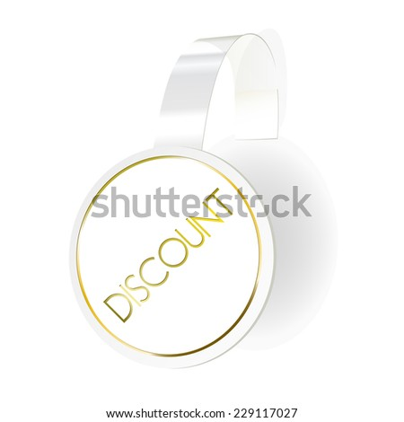 Wobbler with transparent strip isolated on a white background. Vector illustration - stock vector