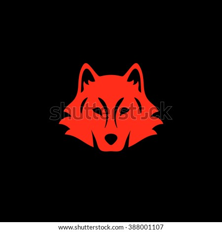 Wolf icon - stock vector