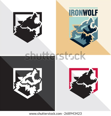 wolf vector icon - stock vector
