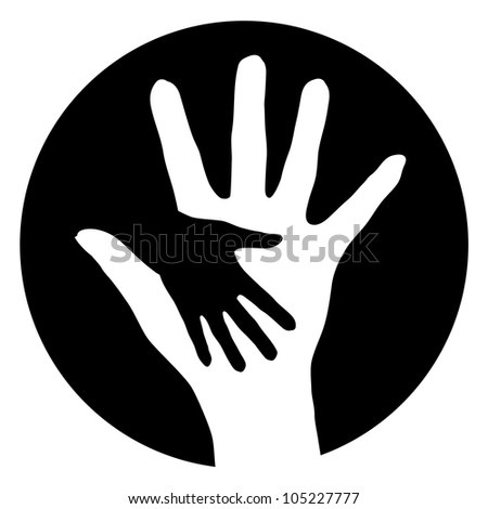 Woman baby Help Hands. Abstract illustration for design. - stock vector