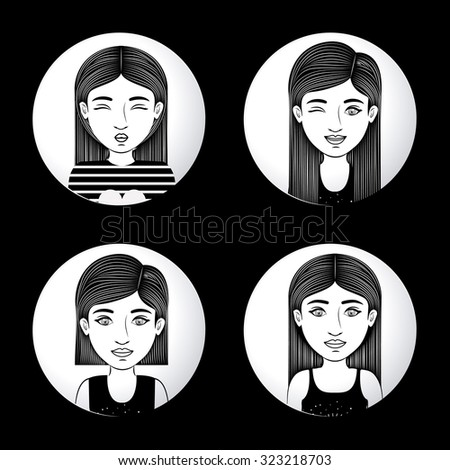 Woman concept about young person design, vector illustration eps 10 - stock vector