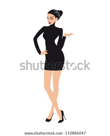 Woman in business suit, Illustration - stock vector